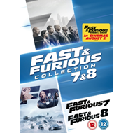 Produktbilde for Fast & Furious 7 & 8 (UK-import) (DVD)