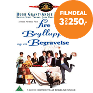 Produktbilde for Four Weddings And A Funeral (1994) / Fire Bryllup Og En Gravferd (DK-import) (DVD)
