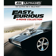 Produktbilde for Fast & Furious: 8-Movie Collection (UK-import) (4K Ultra HD + Blu-ray)