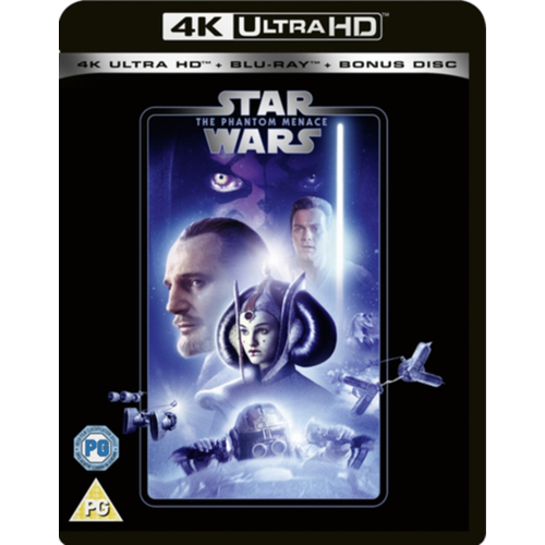 Star Wars: Episode I - The Phantom Menace / Den Skjulte Trussel (UK-import) (4K Ultra HD + Blu-ray)