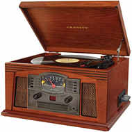 Produktbilde for Crosley Lancaster Entertainment Center - Retro LP/CD/Kassettspiller med høyttaler (PLATESPILLER)