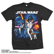 Star Wars Space Montage 2 Mens Black T Shirt: Large (T-SHIRT)