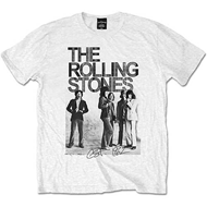 Rolling Stones Est 1962 Group White Mens T Shirt: Small (T-SHIRT)