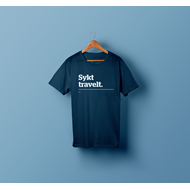 Lunch - Sykt Travelt (Navy) T Skjorte Large (T-SHIRT)
