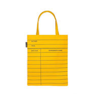 Produktbilde for Library Card Light Yellow (UK-import) (TOTE BAG)