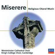 Produktbilde for Miserere - Religious Choral Music (CD)