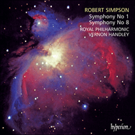Produktbilde for Simpson: Symphonies Nos. 1 and 8 (CD)