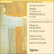 Produktbilde for Martin; Pizzetti: Sacred Choral Works (CD)