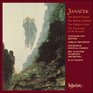 Produktbilde for Janácek: The Eternal Gospel; The Excursions of Mr Broucek Suite (CD)