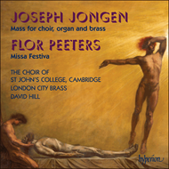 Produktbilde for Jongen: Messe en l'honneur du Saint-Sacrament; Peeters: Missa Festiva (CD)