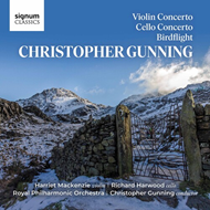 Produktbilde for Gunning: Violin Concerto; Cello Concerto; Birdflight (CD)