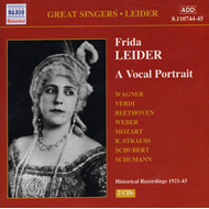 Produktbilde for Frida Leider - A Vocal portrait (CD)