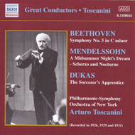 Produktbilde for Toscanini conducts Beethoven, Dukas & Mendelssohn (CD)