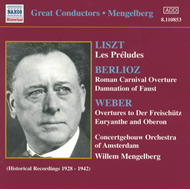 Produktbilde for Mengelberg conducts Orchestral Works (CD)