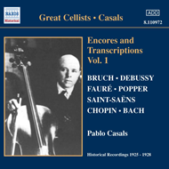 Produktbilde for Casals - Encores and Transcriptions Vol 1 (CD)