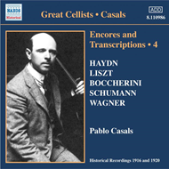 Produktbilde for Casals - Encores and Transcriptions, Vol 4 (CD)
