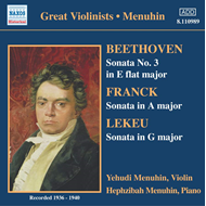 Produktbilde for Beethoven; Franck; Lekeu: Violin Sonatas (CD)