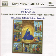 Produktbilde for Pierre de la Rue: Mass of the Seven Sorrows of the Blessed Virgin etc (CD)