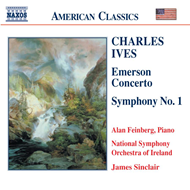 Produktbilde for Ives: Symphony No 1; Emerson Concerto (CD)