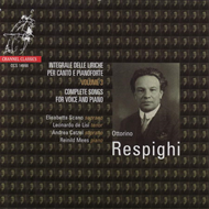 Produktbilde for Respighi: Complete Songs for Voice and Piano (CD)
