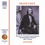 Produktbilde for Liszt: Études d'exécution transcendente (1851 version) (CD)