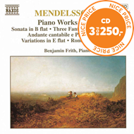 Produktbilde for Mendelssohn: Piano Works, Vol. 3 (CD)