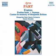 Produktbilde for Pärt: Fratres; Festina lente etc (CD)