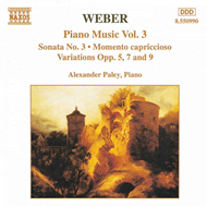 Produktbilde for Weber: Piano Works, Vol. 3 (CD)