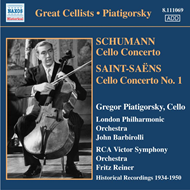 Produktbilde for Saint-Saëns; Schumann: Cello Concertos (CD)
