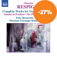 Produktbilde for Respighi: Complete Works For Violin & Piano Vol.1 (CD)