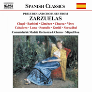 Produktbilde for Preludes and Choruses from Zarzuelas (CD)