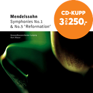 Produktbilde for Mendelssohn: Symphonies Nos 1 and 5 (CD)