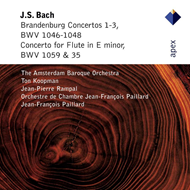 Produktbilde for Bach: Brandenburg Concertos 1-3; Flute Concerto in E minor (CD)
