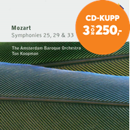 Produktbilde for Mozart: Symphonies 25, 29 and 33 (CD)