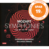 Produktbilde for Mozart: Symphonies Nos. 39, 40 & 41 (2CD)