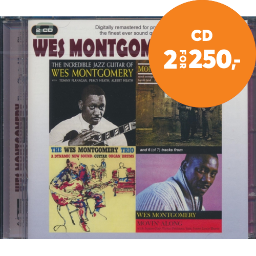 Three Classic Albums Plus (The Montgomery Trio/Montgomeryland/The Incredible Jazz Guitar/Movin' Along) (2CD)