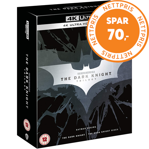Batman - The Dark Knight Trilogy (UK-import) (4K Ultra HD + Blu-ray)