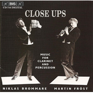 Produktbilde for Close Ups-Music for Clarinet and Percussion (CD)