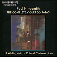 Produktbilde for Hindemith: Violin Sonatas (CD)