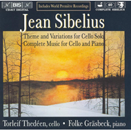 Produktbilde for Sibelius: Works for Cello and Piano (CD)