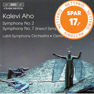 Produktbilde for Aho: Symphonies Nos 2 & 7 (CD)