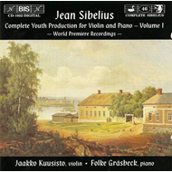Produktbilde for Sibelius - Complete Youth Production for Violin and Piano, Vol 1 (CD)