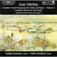 Produktbilde for Sibelius: Complete Youth Production for Violin & Piano, Volume 2 (CD)