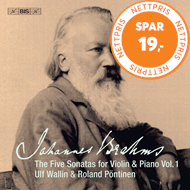 Produktbilde for Brahms: The Five Sonatas For Violin & Piano, Vol.1 (SACD-Hybrid)