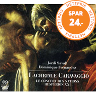 Produktbilde for Savall: Lachrim Caravaggio [SACD] (CD)