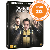 Produktbilde for X-Men: First Class (2011) - Limited Steelbook Edition (4K Ultra HD + Blu-ray)
