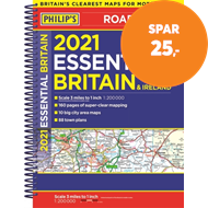Produktbilde for 2021 Philip's Essential Road Atlas Britain and Ireland - (A4 Spiral binding) (BOK)