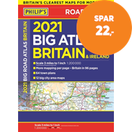 Produktbilde for 2021 Philip's Big Road Atlas Britain and Ireland - (A3 Paperback) (BOK)