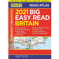 Produktbilde for 2021 Philip's Big Easy to Read Britain Road Atlas - (A3 Spiral binding) (BOK)
