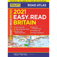 Produktbilde for 2021 Philip's Easy to Read Britain Road Atlas - (A4 Paperback) (BOK)